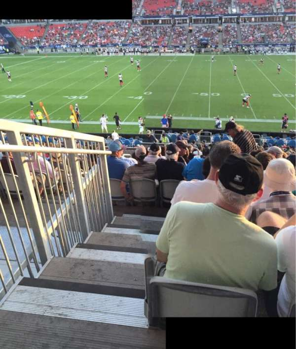BMO Field, section: 107, row: 26, seat: 29