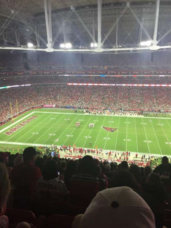 University of Phoenix Stadium, section: 412, row: 17, seat: 2