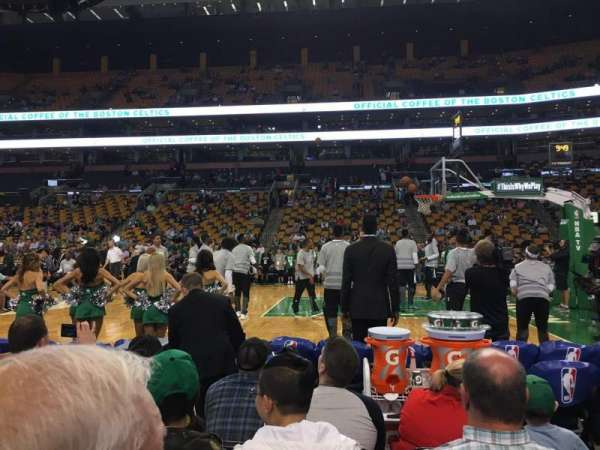TD Garden, section: Loge 21, row: 2, seat: 10