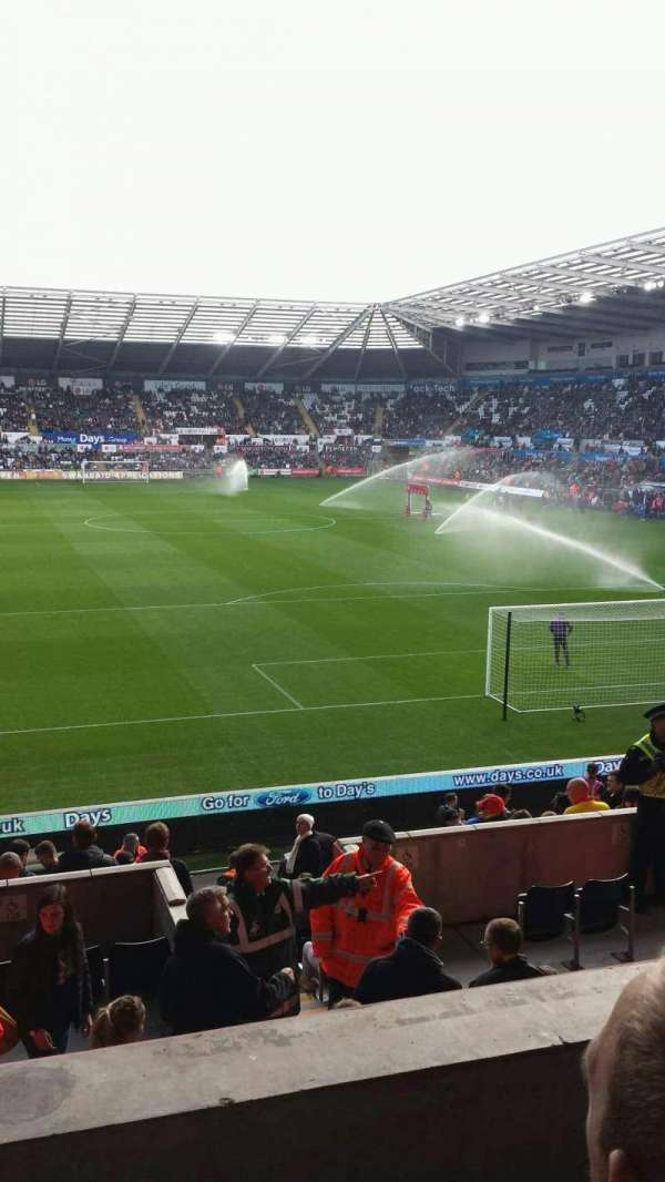 Liberty Stadium, section: X, row: O, seat: 132