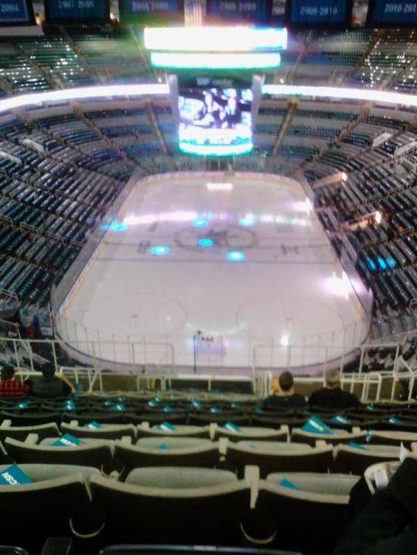 SAP Center, section: 208, row: 16, seat: 9