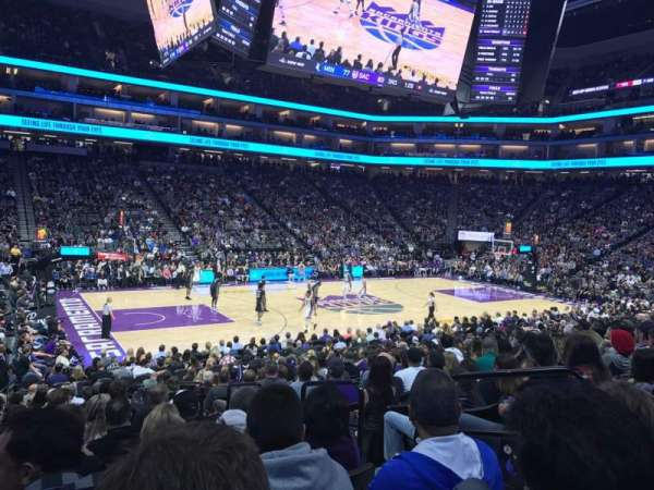 Golden 1 Center, section: 122, row: H, seat: 4