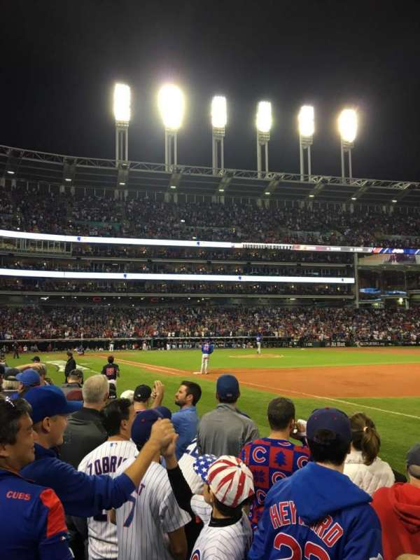 Progressive Field, section: 134, row: D, seat: 4