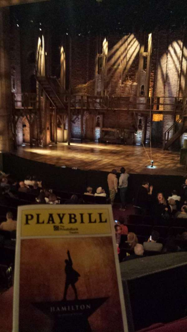 CIBC Theatre, section: DRESS CIRCLE R, row: A, seat: 2