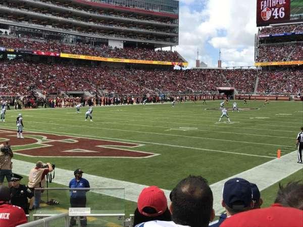 Levi's Stadium, section: 122, row: 5, seat: 5