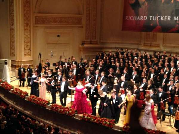 Carnegie Hall, section: Box 13, row: 2, seat: 5