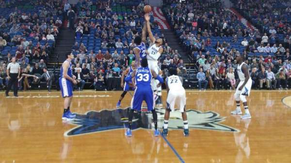 Target Center, section: 131, row: 1, seat: 12