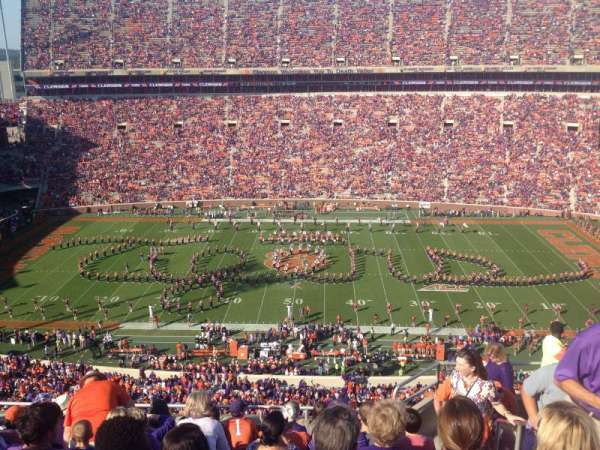 Memorial Stadium, Clemson, section: TDE, row: G, seat: 5-7