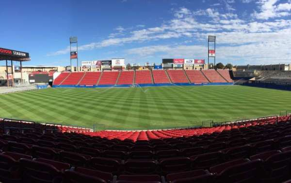 Toyota Stadium, section: 106, row: 20, seat: 8