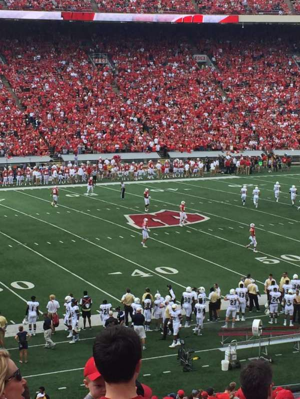 Camp Randall Stadium, section: V, row: 46, seat: 20