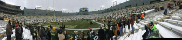 Lambeau Field, section: 135, row: 6, seat: 8