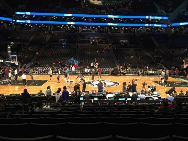 Barclays center, section: 8, row: 13, seat: 15