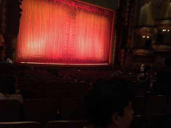New Amsterdam Theatre, section: Orchestra L, row: R, seat: 11