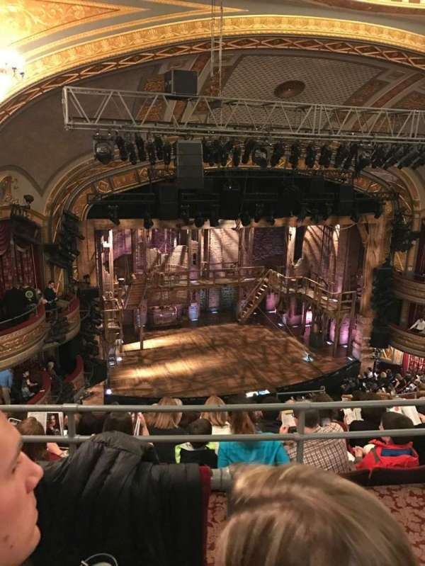 Richard Rodgers Theatre, section: Rear Mezzanine L, row: H, seat: 13