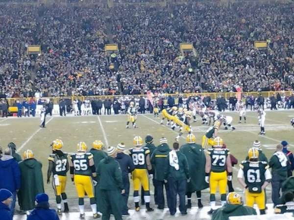 Lambeau Field, section: 118, row: 7, seat: 9
