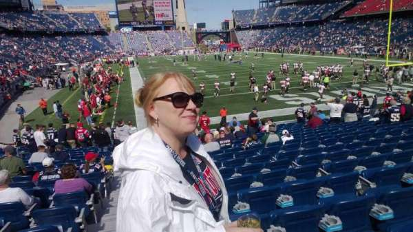 Gillette Stadium, section: 123, row: 30-35