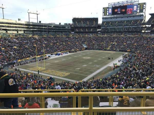 Lambeau Field, section: 308, row: 2, seat: 27
