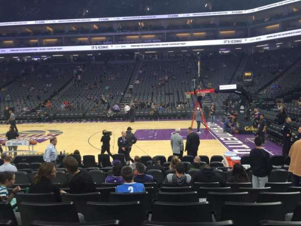 Golden 1 Center, section: 106, row: EE, seat: 7
