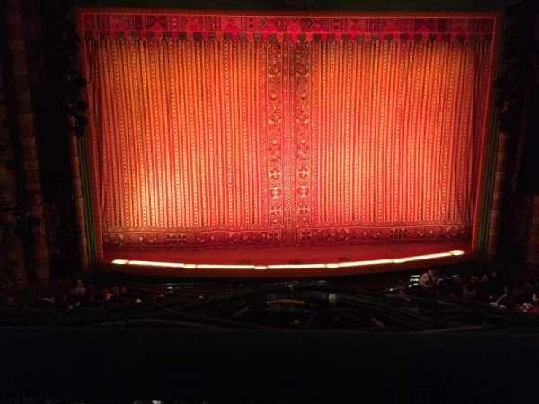 New Amsterdam Theatre, section: Mezzanine C, row: AA, seat: 112