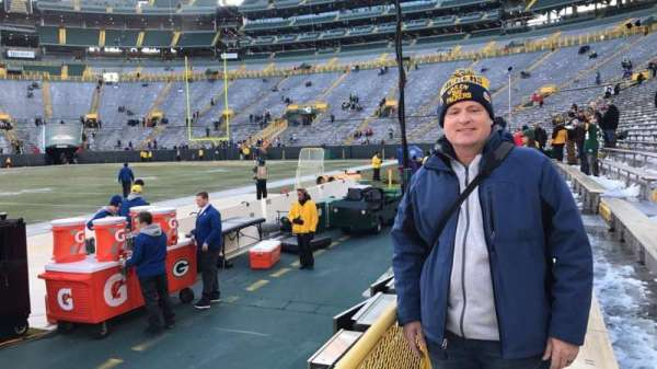 Lambeau Field, section: 120, row: 1, seat: 5