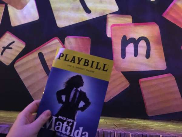 Shubert Theatre, section: Orchestra, row: AA, seat: 2