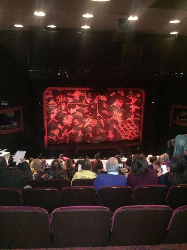 Minskoff Theatre, section: Mezzanine, row: K, seat: 113