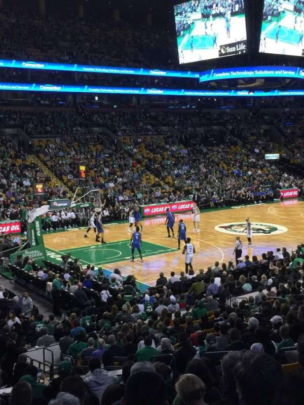 TD Garden, section: Loge 15W, row: 15, seat: 6