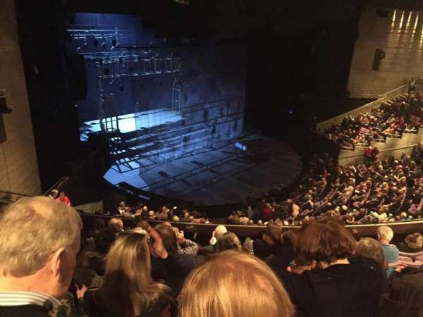 The Olivier Theatre at the National Theatre, section: Balcony, row: G, seat: 77