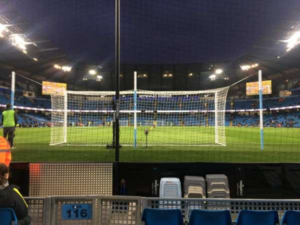 Etihad Stadium (Manchester), section: 115, row: B, seat: 409