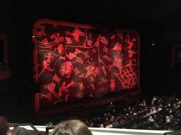 Minskoff Theatre, section: Mezzanine, row: DD, seat: 1
