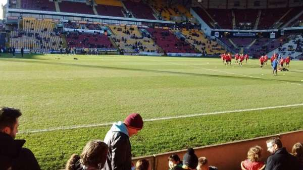 Valley Parade, section: Midland road, row: E, seat: 139
