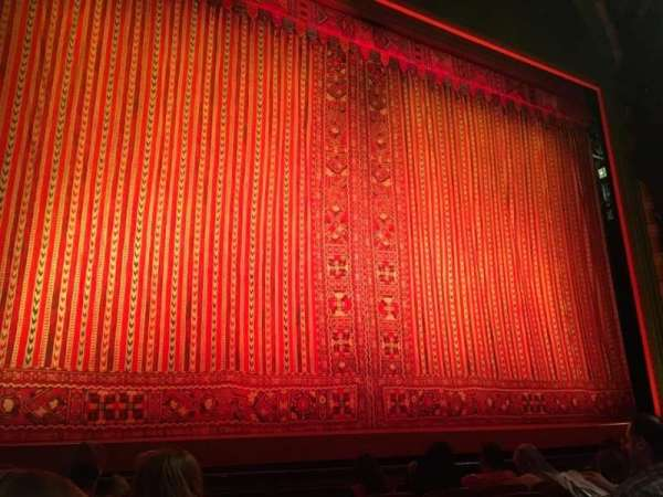 New Amsterdam Theatre, section: Orchestra L, row: F, seat: 1 and 3