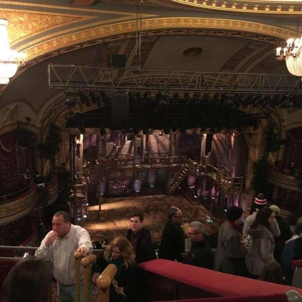 Richard Rodgers Theatre, section: Rear Mezzanine L, row: E, seat: 13