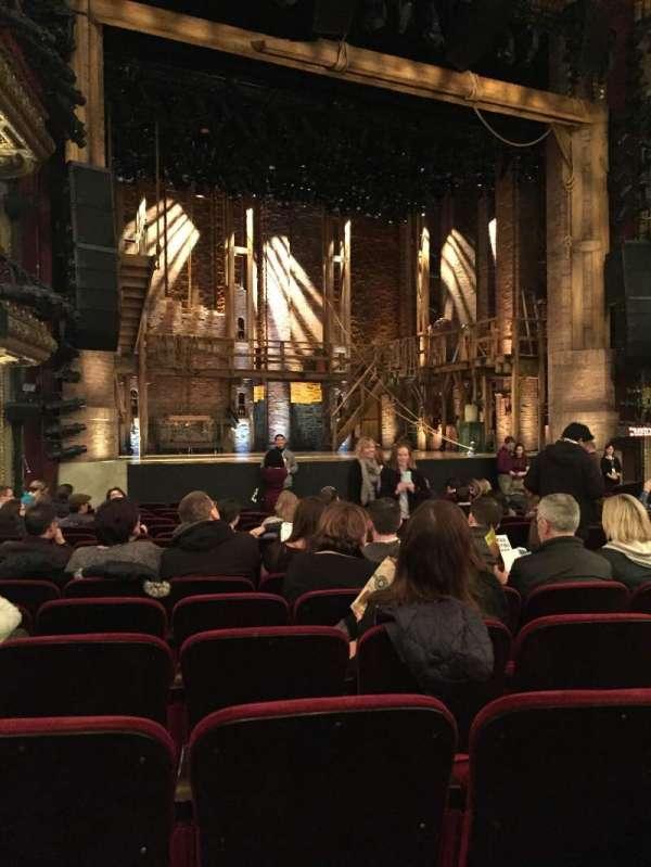 CIBC Theatre, section: Orchestra L, row: R, seat: 11