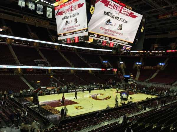 Quicken Loans Arena Section 106 Row 16 Seat 8