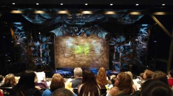 Gershwin Theatre, section: Rear Mezzanine C, row: G, seat: 114