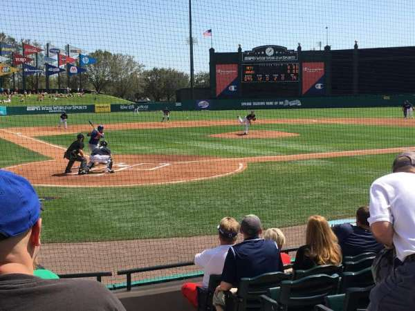 Champion Stadium, section: 112, row: H, seat: 1