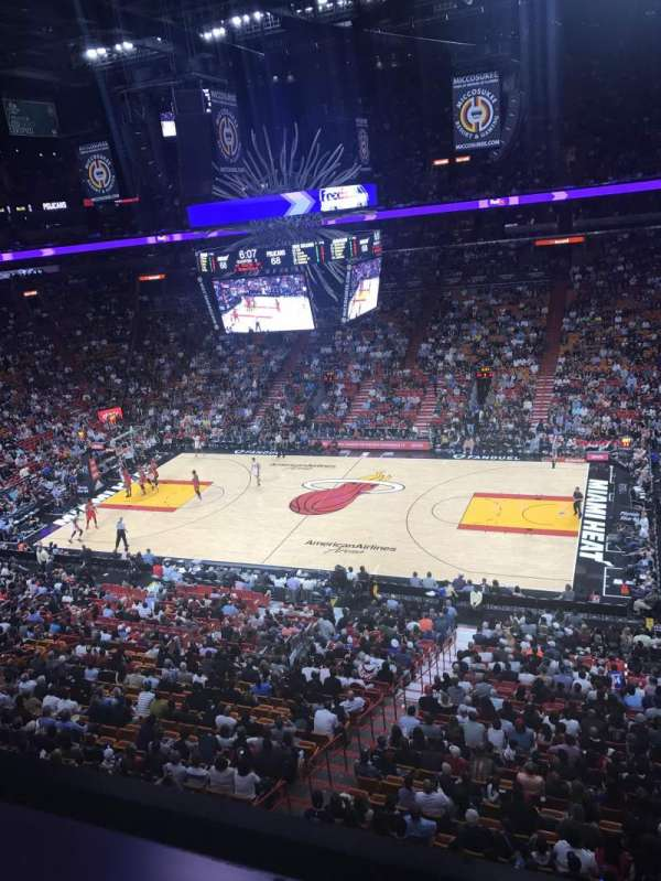 American Airlines Arena, section: 323, row: 1, seat: 5
