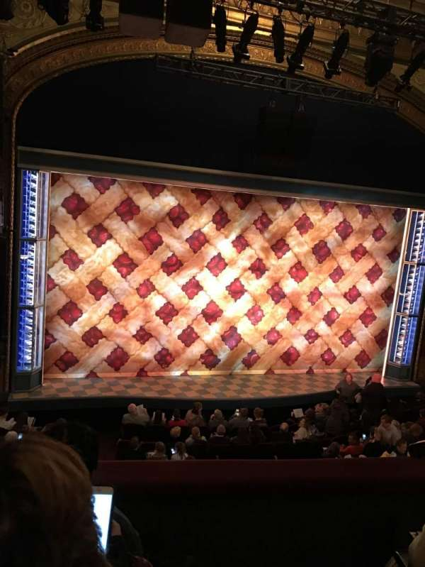 Brooks Atkinson Theatre, section: Front Mezzanine L, row: C, seat: 1