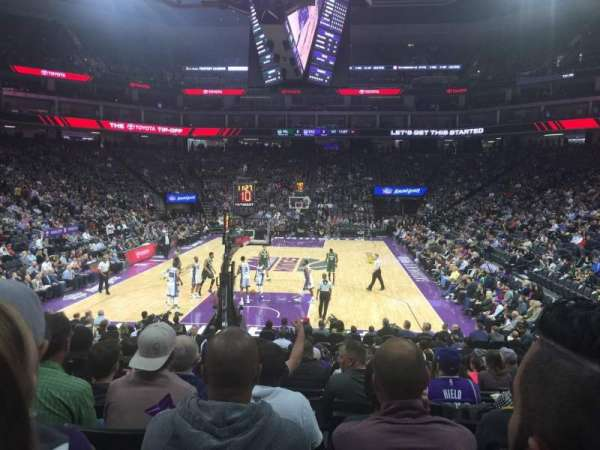 Golden 1 Center, section: 126, row: F, seat: 19