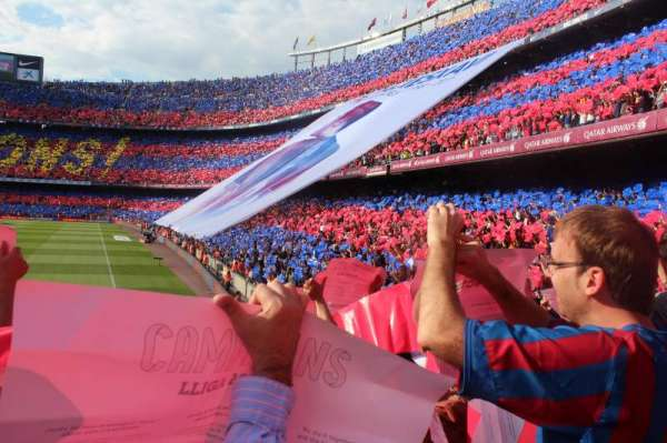 Camp Nou, section: 123, row: 7, seat: 14