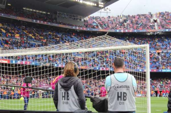 Camp Nou, section: 123, row: 2, seat: 12