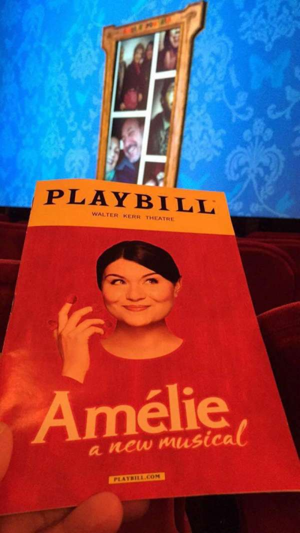 Walter Kerr Theatre, section: Orchestra R, row: F, seat: 20
