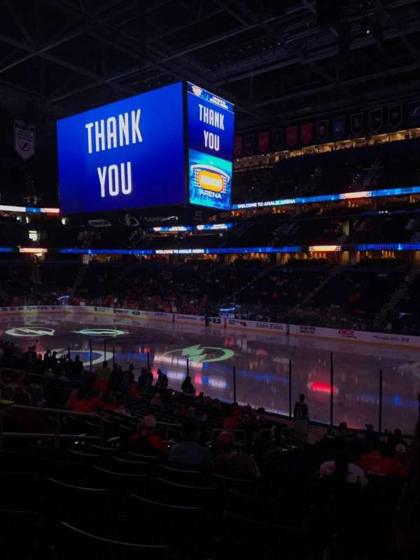 Amalie Arena, section: 128, row: W, seat: 21