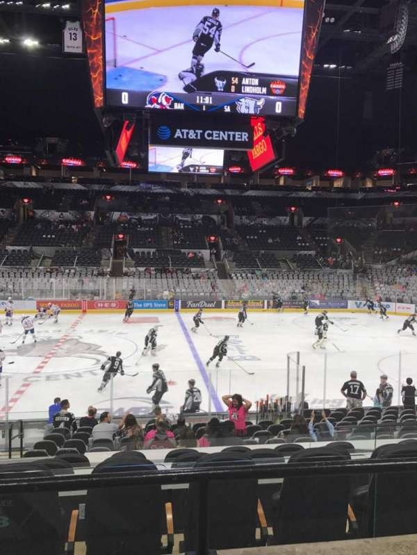 AT&T Center, section: 108, row: 21, seat: 5