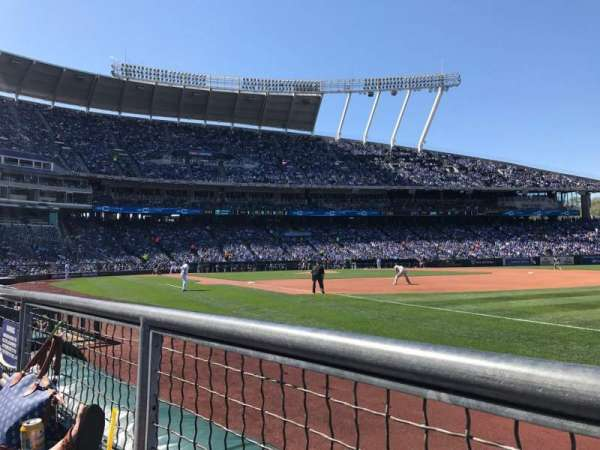 Kauffman Stadium, section: 141, row: B, seat: 6