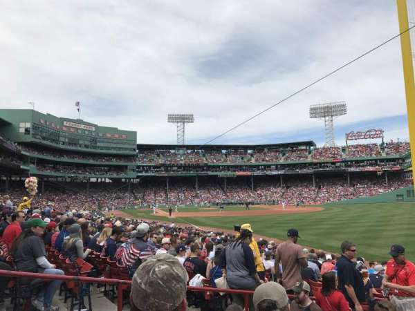 Fenway Park, section: Right Field Box 93, row: LL, seat: 17