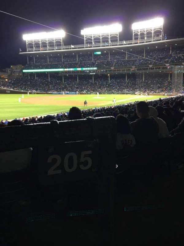Wrigley Field, section: 205, row: 1, seat: 17