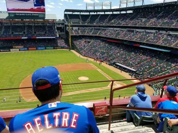 Globe Life Park in Arlington, section: 319, row: 4, seat: 18