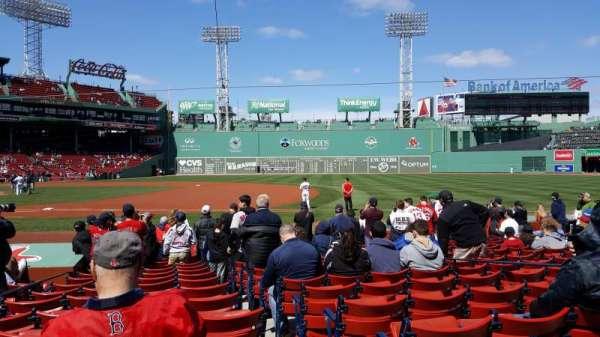 Fenway Park, section: Field Box 20, row: L, seat: 2